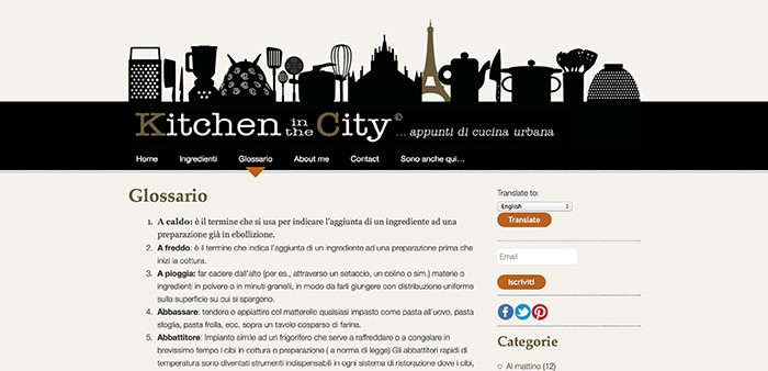 Kitchen In The City Glossario