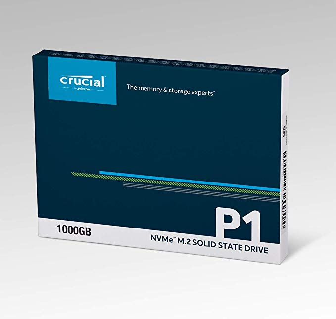 Crucial P1 CT1000P1SSD8 SSD Interno, 1 TB, 3D NAND, PCIe, M.2