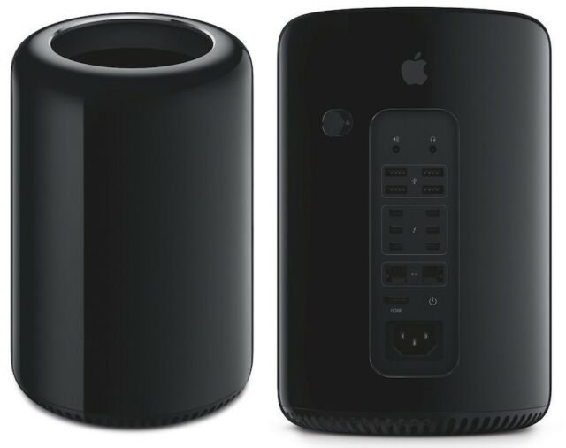 """Mac Pro 6.1, soprannominato """"Trash Can"""" per via della somiglianza con un cestino della spazzatura"""